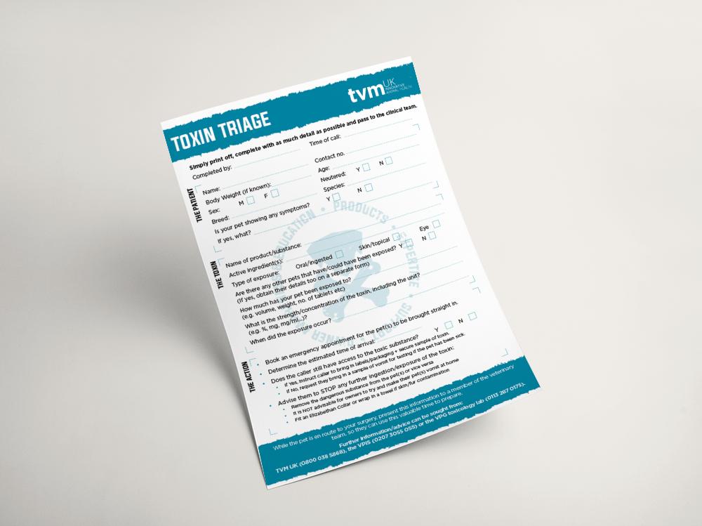 TVM Toxin Triage Sheet