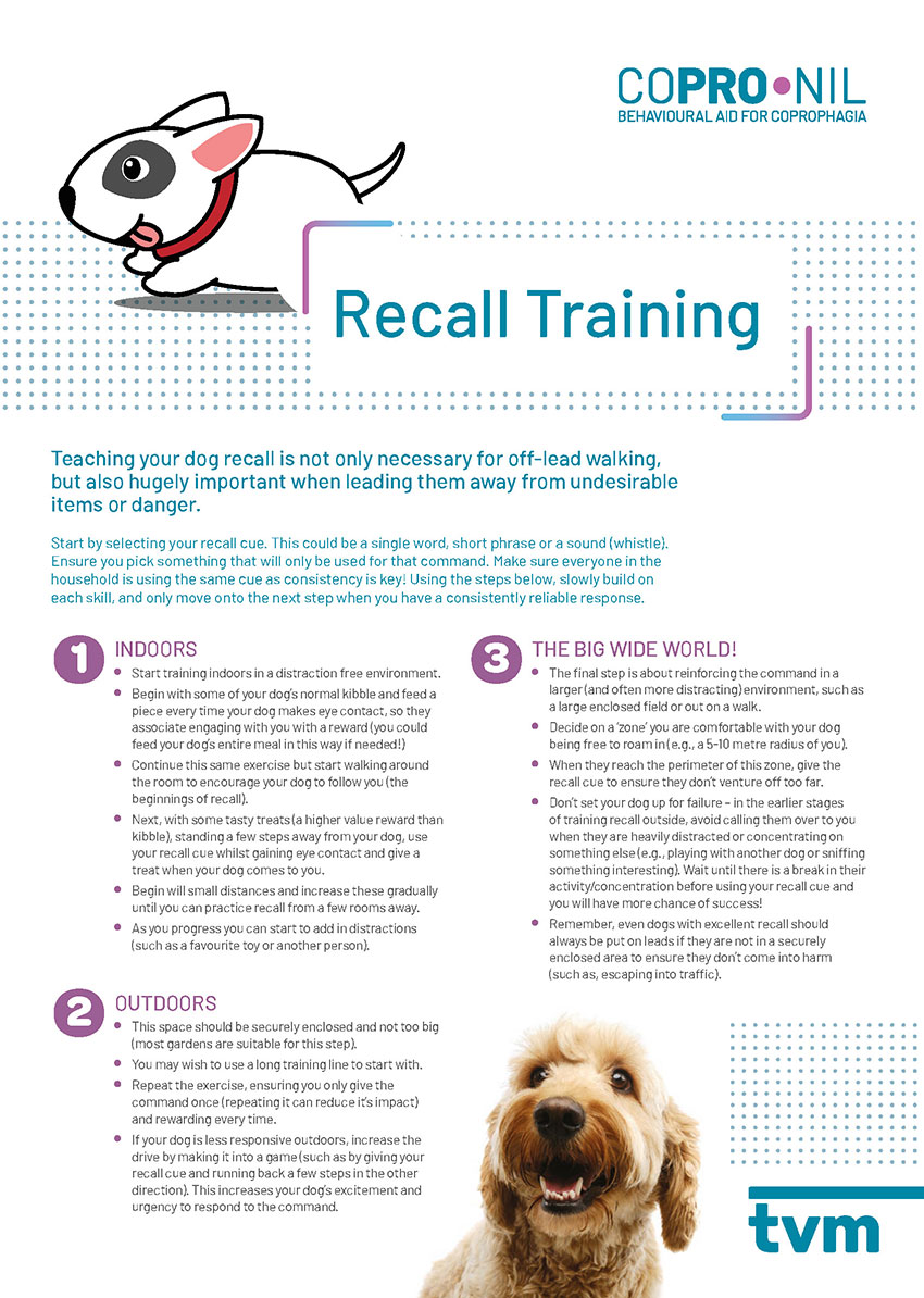 Training guide - Coprophagia